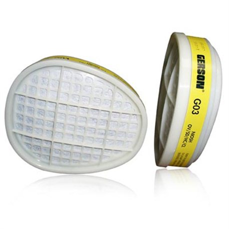 Gerson Face Mask Cartridges Respirator Filters x2 G03E