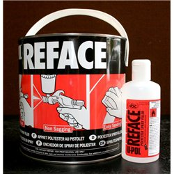 Upol Reface 2.5Ltr polyester Spray Filler + catalyst hardener