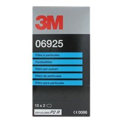 3M 06925 Particulate Filters to suit 06783 respirator - Box of 20 filters